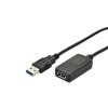 Digitus USB 3.0 repeater kábel; 5m