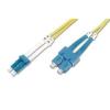 Digitus üvegszálas optikai patch kábel , duplex SM 9/125 LC / SC 2m