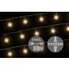 diLED világító lánc - 100 LED meleg fehér + bekötés
