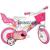 Dino Bikes Barbie rózsaszín-fehér kerékpár 12-es méretben