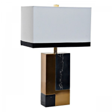 DKD Home Decor Asztali Lámpa DKD Home Decor Fém Szövet Márvány Vásznas (40 x 23 x 69 cm) világítás