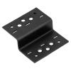 DMX összekötő lemez hajlított 98 x 28 x 85 mm díszítőelemmel kiegészíthető fekete