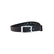 Dogtrace műanyag nyakörv szíj fekete, 25 mm x 85 cm nyakörv, póráz, hám kutyáknak