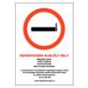Dohányzásra kijelölt hely - PVC tábla