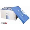 DONAU Archiváló konténer, levehetõ tetõ, 522x351x305 mm, karton, DONAU, kék-fehér