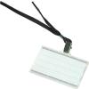 DONAU Azonosítókártya tartó, fekete nyakba akasztóval, 85x50 mm, műanyag,
