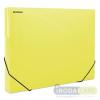DONAU Gumis mappa, 30 mm, PP, merevített, A4, DONAU, áttetszõ sárga