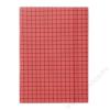 DONAU Gumis mappa, karton, A4, kockás, DONAU, piros (DFEP041)