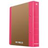 DONAU Gyűrűs könyv, 2 gyűrű, D alakú, 50 mm, A4, karton, DONAU  Life , neon rózsaszín