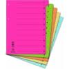 DONAU karton elválasztó lapok, mikroperforált, A4, narancssárga