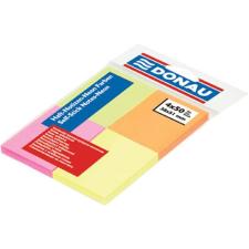 DONAU Öntapadó jegyzettömb, 38x51 mm, 4x50 lap, DONAU, vegyes szín jegyzettömb