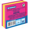 DONAU Öntapadó jegyzettömb, 50x50 mm, 250 lap, DONAU, neon rózsaszín