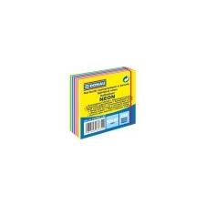 DONAU Öntapadó jegyzettömb, 50x50mm,250 lap, DONAU, neon és pasztell színek jegyzettömb