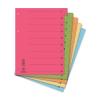 DONAU Regiszter, karton, A4, mikroperforált, DONAU, kék