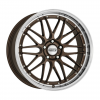 DOTZ Revvo 8x18 5x114,3 ET48 CB71.6 polírozott/csiszolt perem / bronz lakk