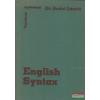 Dr. Budai László - English Syntax