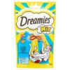 Dreamies Mix kiegészítő állateledel lazaccal és sajttal felnőtt és junior macskák számára 60 g