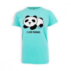 Dressa Dressa pandás pamut női póló - kék | L