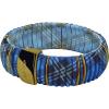 DSE HIP-HOP Jewels - Kint - szilikon-nemesacél-szövet karkötő - kék kockás