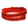 DSE Il MEZZOMETRO -  I LOVE YOU - SILVER - szilikon karkötő, piros színben