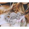 """Dupla barátság nyaklánc """"kulcs a szívben"""""""