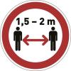 DURABLE Információs matrica, 430 mm, DURABLE  Tartson távolságot