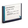 """DURABLE Információs tábla, 148,5x210 mm, DURABLE """"CLICK SIGN"""", kék"""
