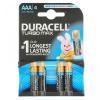 Duracell Turbo max LR03/4 db tartós AAA microelem