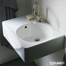 Duravit Scola univerzális 61,5x46 cm mosdó csaplyukkal jobbos medence 0685600011 fürdőszoba kiegészítő