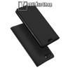 DUX DUCIS slim design notesz / mappa tok - FEKETE - oldalra nyíló flip cover, asztali tartó funkció, szilikon belső, mágneses záródás - OPPO F7 Youth - GYÁRI