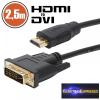 DVI-D / HDMI kábel • 2,5 m