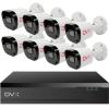 DVX AHD Biztonsági kamera rendszer - 8 db, 2 Mpx felbontású kamera
