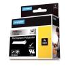 Dymo 1805434, 24mm x 5m, fekete nyomtatás / fémes alapon, eredeti szalag