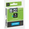 """DYMO Feliratozógép szalag, 6 mm x 7 m, DYMO """"D1"""", fehér-fekete"""