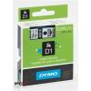 """DYMO Feliratozógép szalag, 9 mm x 7 m, DYMO """"D1"""", fehér-fekete"""