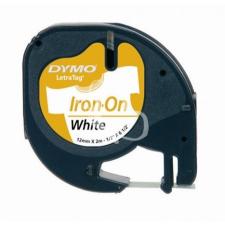 """DYMO Feliratozógép szalag, vasalható, 12 mm x 2 m, DYMO """"Letratag"""", fehér címkézőgép"""