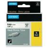 Dymo Rhino 18051, S0718260, 6mm x 1,5m fekete nyomtatás / fehér alapon, eredeti szalag