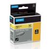 Dymo Rhino 18052, S0718270, 6mm x 1,5m fekete nyomtatás / sárga alapon, eredeti szalag