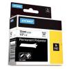 Dymo Rhino 18483, S0718210, 12mm x 5,5m fekete nyomtatás / fehér alapon, eredeti szalag