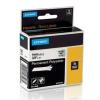 Dymo Rhino 18508, S0718160, 9mm x 5,5m fekete nyomtatás / átlátszó alapon, eredeti szalag