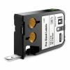Dymo XTL 1868666, 12mm x 25mm, 250db, fekete nyomtatás / fehér alapon, eredeti szalag