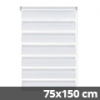 Easy fix doppel roló, fehér, ablakra: 75x150 cm