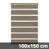 Easy fix doppel roló, mokka, ablakra: 100x150 cm