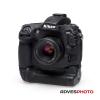 EasyCover szilikon tok Nikon D810 fekete, portrémarkolatos kivitel