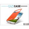 Eazy Case Samsung i9500 Galaxy S4 S View Cover flipes hátlap on/off funkcióval - EF-CI950BOEGWW utángyártott - orange