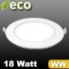 ECO LED panel (kör alakú) 18 Watt - meleg fehér fényű