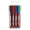 """EDDING Alkoholos marker készlet, 1,5-3 mm, kúpos, EDDING \""""300\"""", 4 különböző szín [4 db]"""