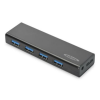 Ednet Hub 4-port USB 3.0 SuperSpeed, Power Supply, black