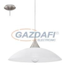 EGLO 91496 Függ. E27 1x60W m.nikkel/fehér Lazolo világítás