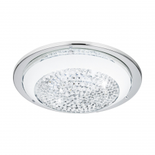 EGLO 95639 ACOLLA beltéri LED-es fali-mennyezeti lámpa, króm színben, MAX 11W teljesítménnyel, LED fényforrással (cserélhető), 3000K színhőmérséklettel, kapcsoló nélkül, IP20 védettséggel (EGLO 95639) világítás